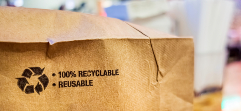 recycle and reuse this bag as a form of packaging